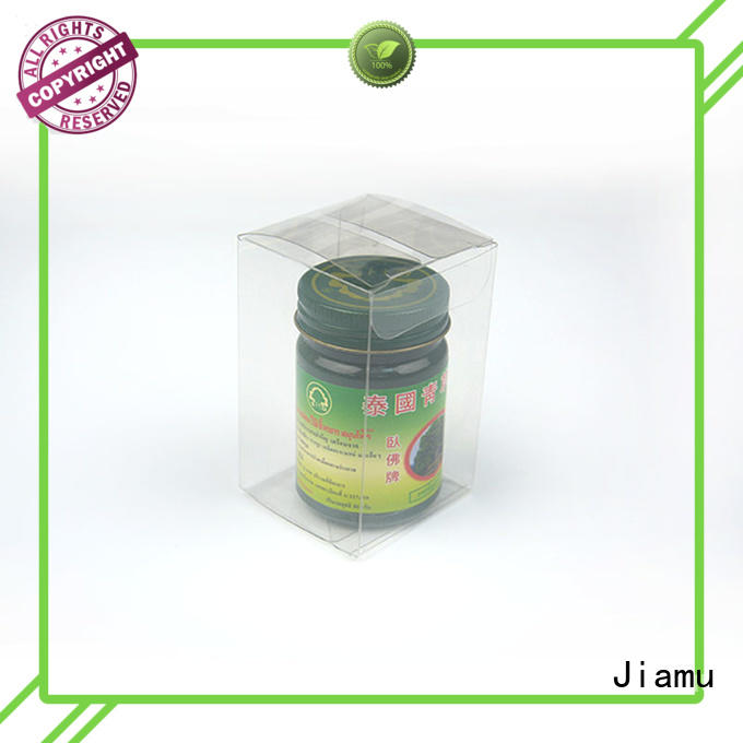 shaped rectangle pvc folding box logo Jiamu Brand