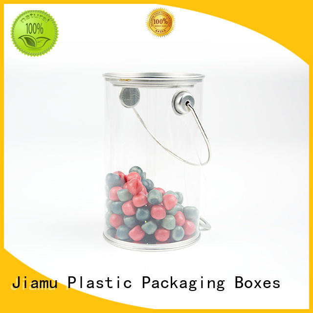 Jiamu Brand clear handle clear plastic tube packaging transparent supplier