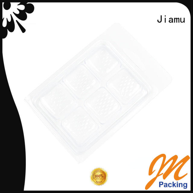 Jiamu Brand wax melt pack punching custom wax blister