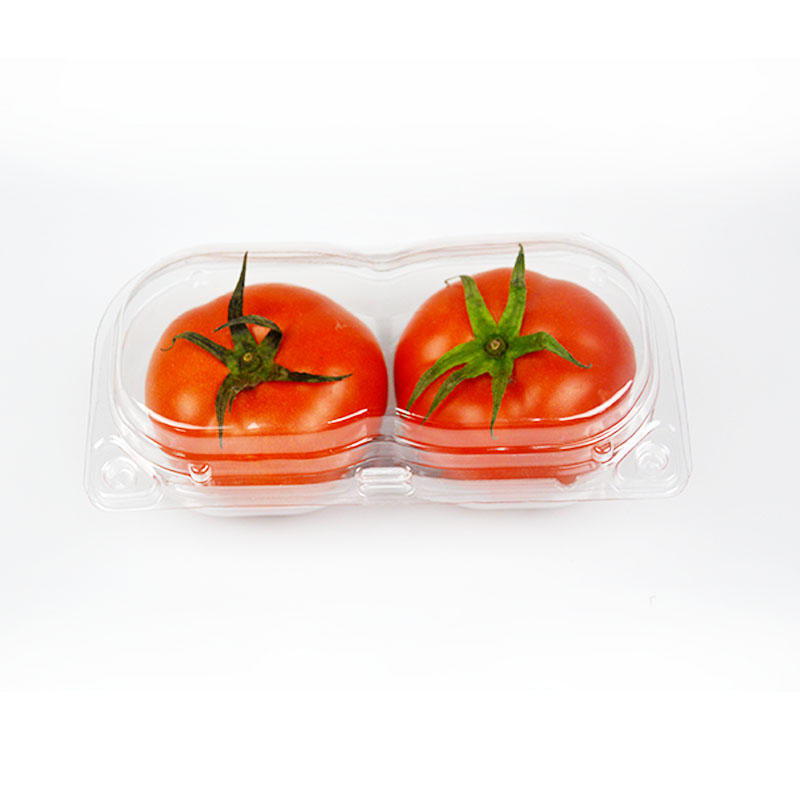 2 Compartment plastic fresh tomato/apple/pear blister fruit pack