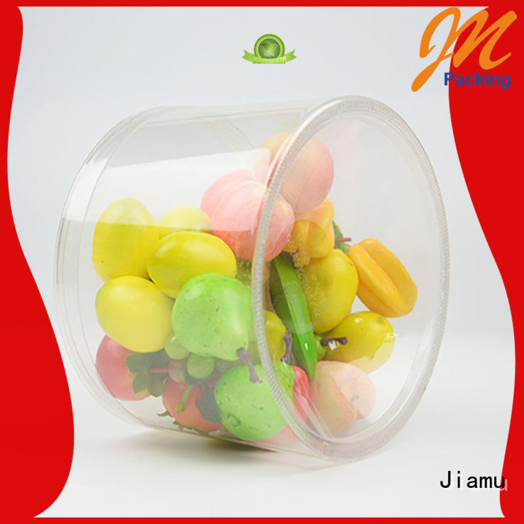 Jiamu transparent pvc tube packaging supplier for toy