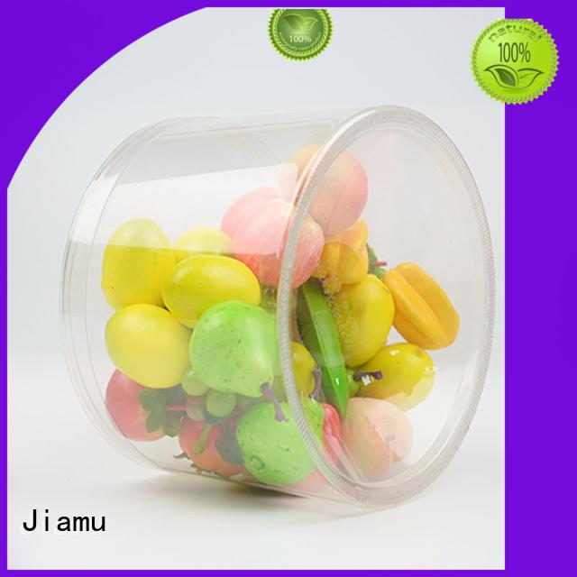 Jiamu Brand food round tin plastic tube packaging manufacture