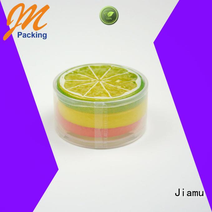 clear plastic tube packaging shaped Jiamu Brand plastic tube packaging