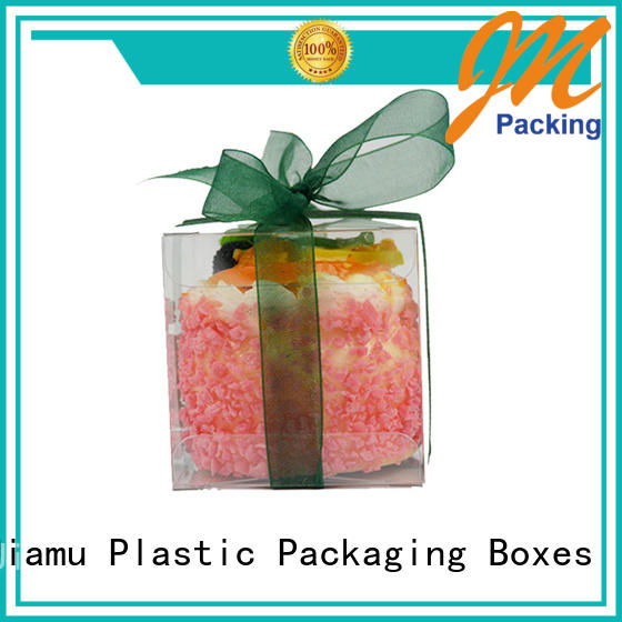 Jiamu stationary printed plastic box directly price for craft packaging