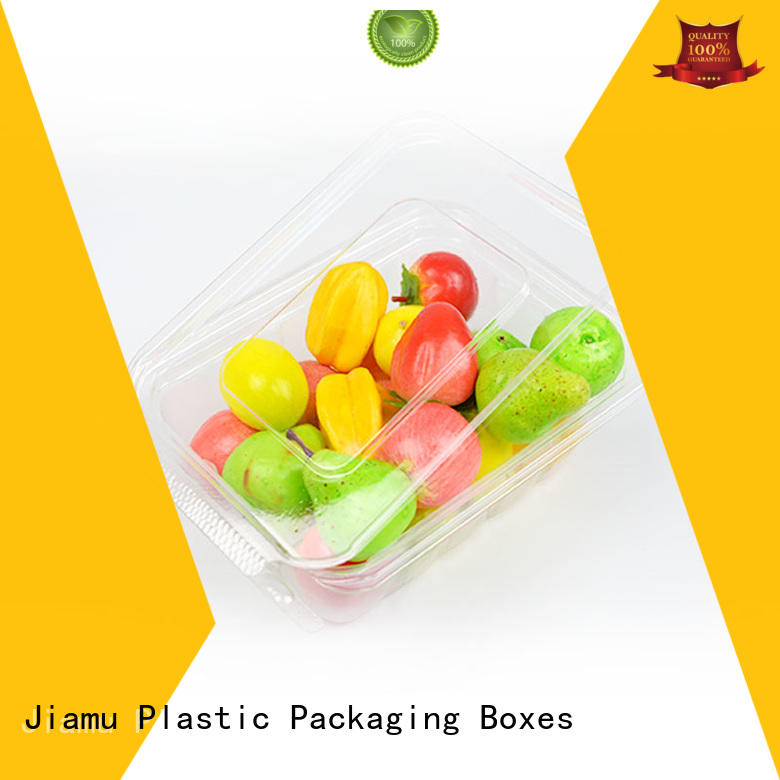clear macarons transparent OEM food blister packaging Jiamu