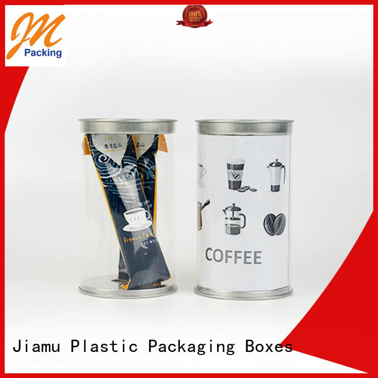 clear plastic tube packaging handle round blister Jiamu Brand