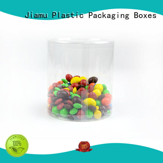 clear coffee tin clear plastic tube packaging Jiamu Brand