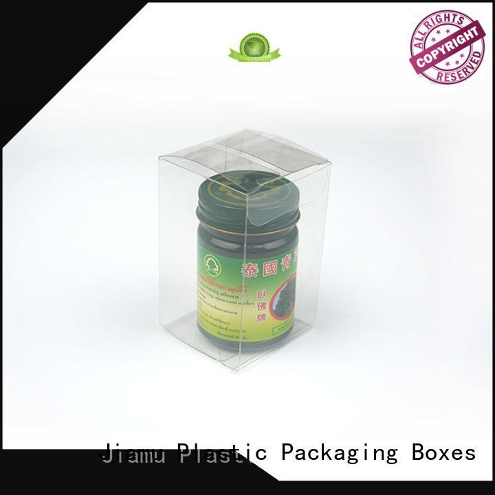 small cream stationary transparent Jiamu Brand pvc folding box supplier
