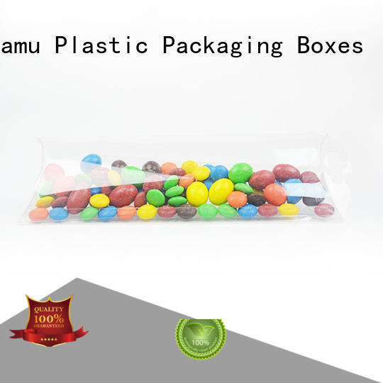 goods gift pvc folding box customized hand Jiamu company