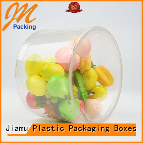 clear plastic tube packaging tin shaped plastic tube packaging Jiamu Brand