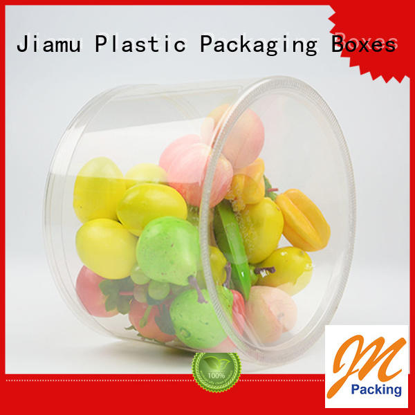 clear plastic tube packaging cylinder plastic tube packaging Jiamu Brand