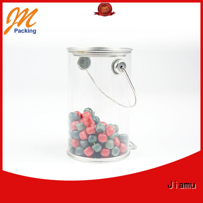 Wholesale lids clear plastic tube packaging round Jiamu Brand