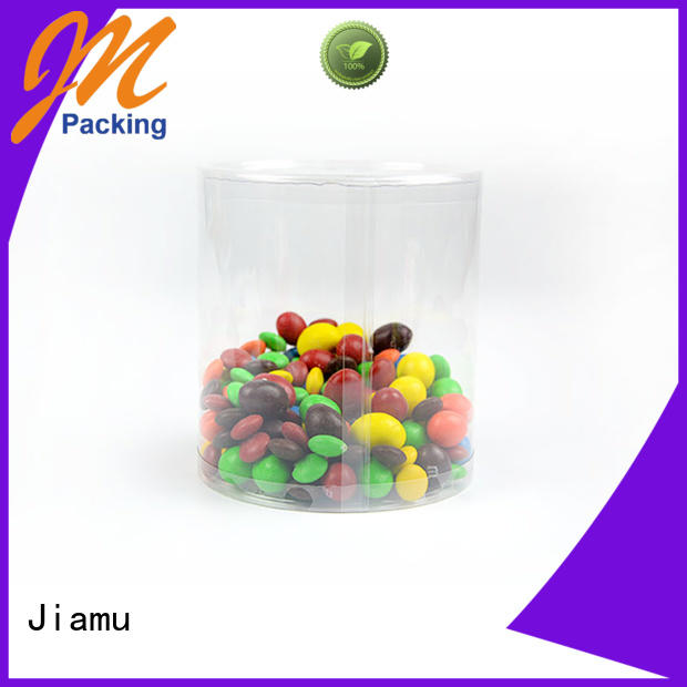 clear plastic tube packaging transparent round plastic tube packaging lids Jiamu Brand