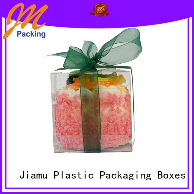 printed accept stationary Jiamu Brand small plastic packaging boxes manufacture