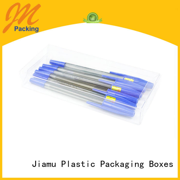 small plastic packaging boxes customized Jiamu Brand pvc folding box