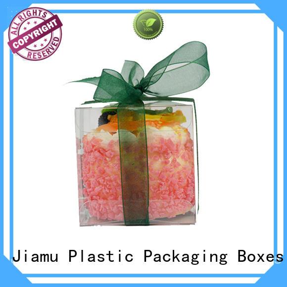 cream gift logo OEM pvc folding box Jiamu