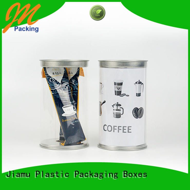 clear plastic tube packaging customized pack cylinder Warranty Jiamu