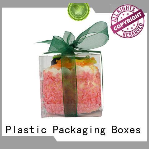 Jiamu pvc plastic packaging box directly price for stationary