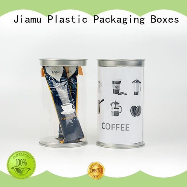 Jiamu food pvc tube packaging factory price for clothes