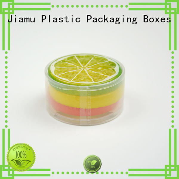 small design handle clear plastic tube packaging Jiamu Brand