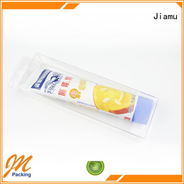 logo packaging pvc folding box pack Jiamu