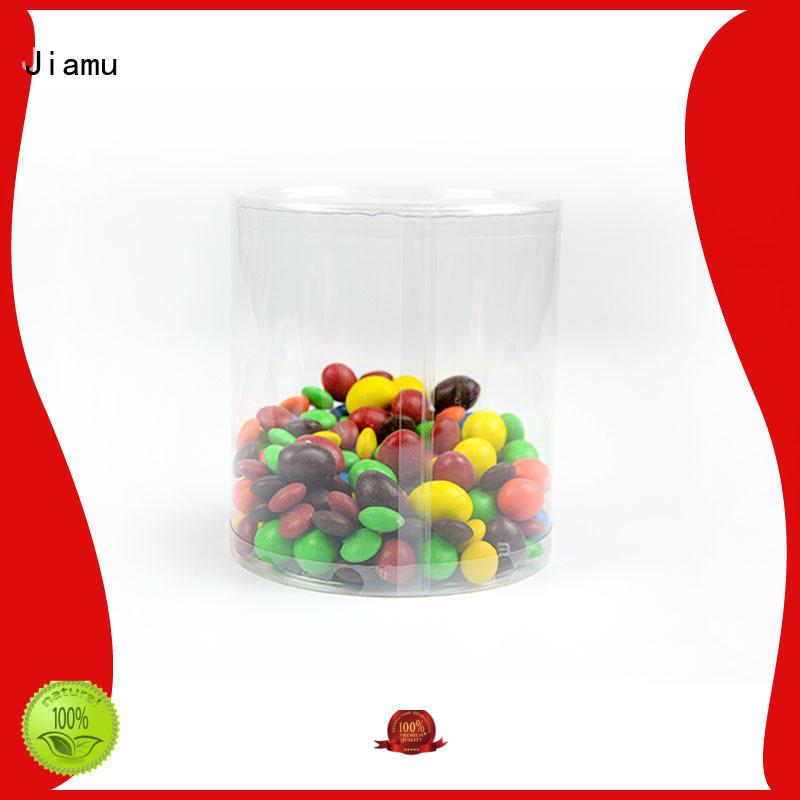 Wholesale transparent clear plastic tube packaging Jiamu Brand