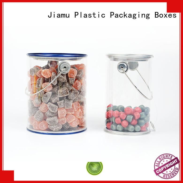 various transparent curling food Jiamu Brand plastic tube packaging supplier