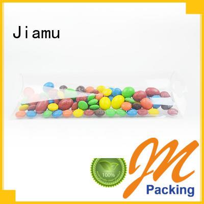 cream customized pvc folding box logo Jiamu Brand company