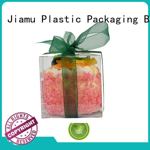 6*6*6 Small transparent plastic folding box packaging for mini gift pack
