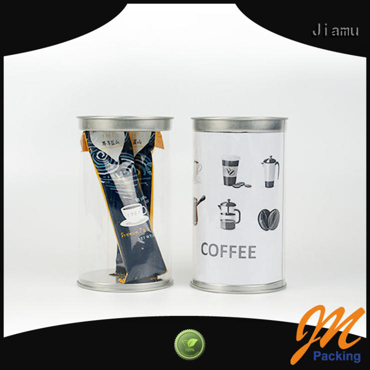 clear plastic tube packaging tin cylinder Bulk Buy transparent Jiamu