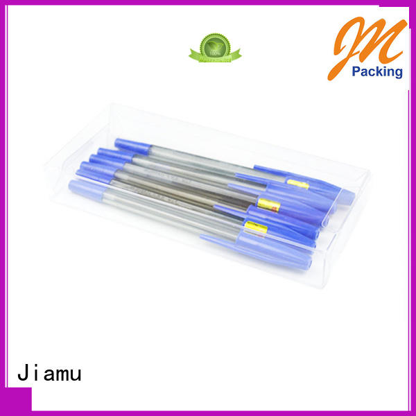 Wholesale goods pvc folding box Jiamu Brand