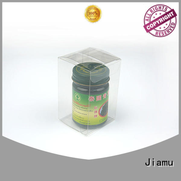 Jiamu small pvc folding box directly price for cosmetic