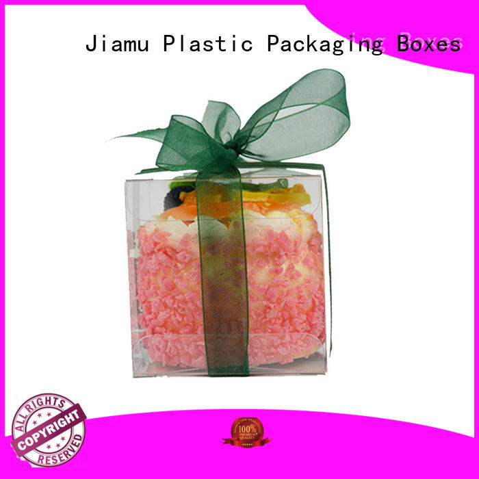 stationary plastic box packaging transparent for gift packaging Jiamu