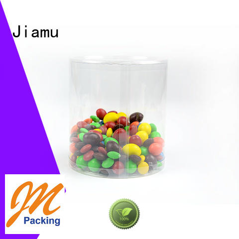 customized coffee blister Jiamu Brand clear plastic tube packaging manufacture