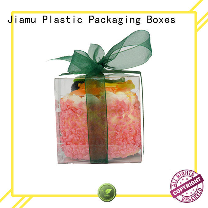 rectangle small plastic packaging boxes clear Jiamu company