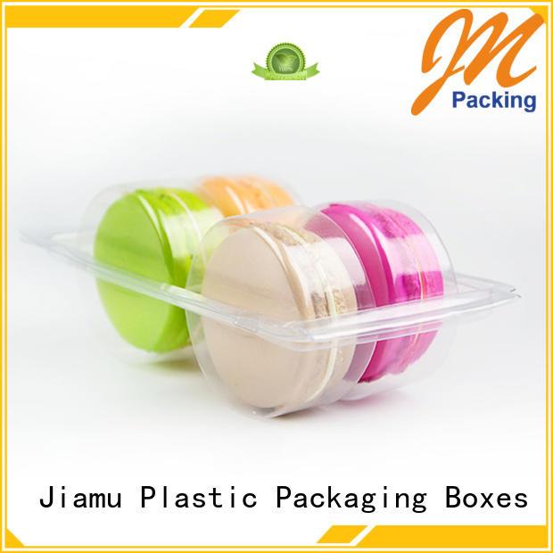 transparent macarons resistant OEM food blister packaging Jiamu