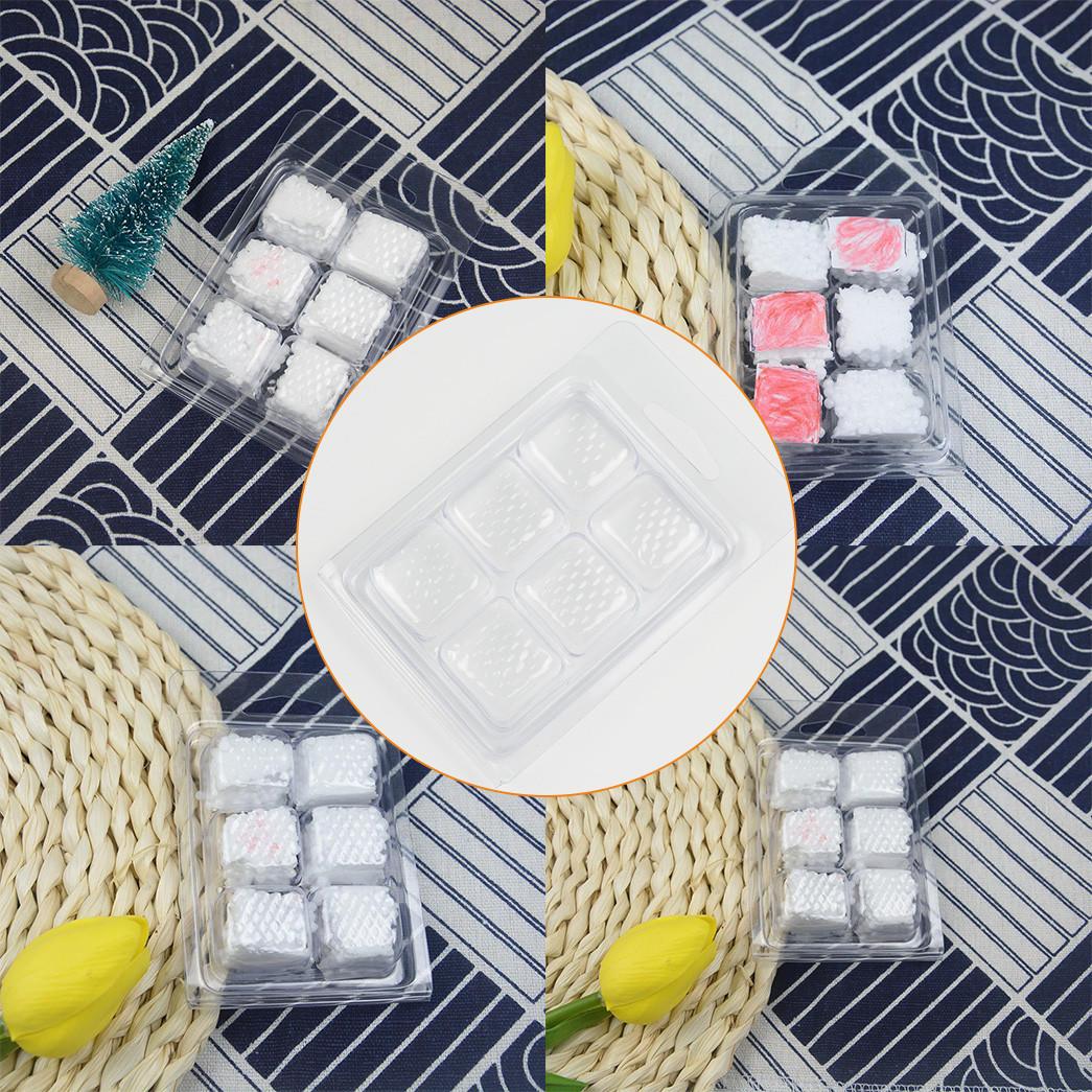 Custom punching transparent daily necessities blister packaging Jiamu wax melt pack