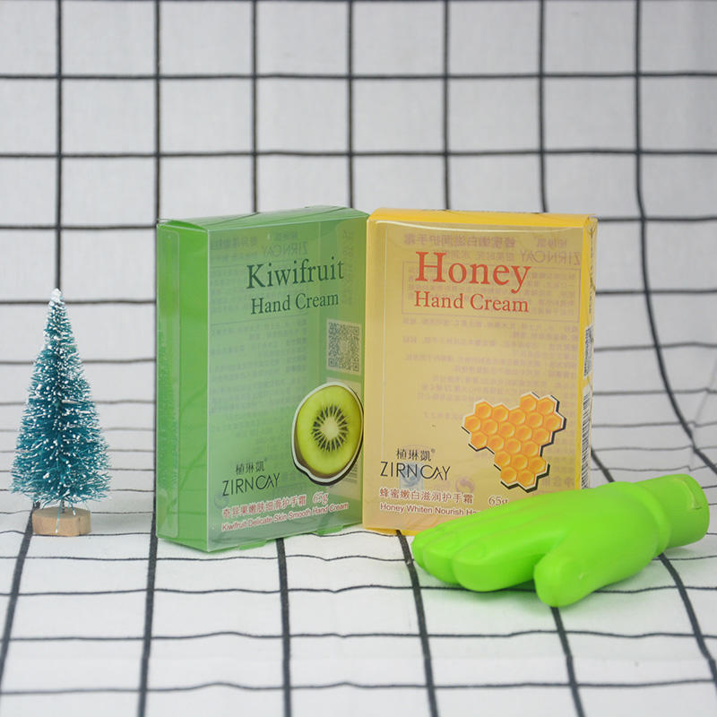 Custom printed plastic folding box packaging for hand cream