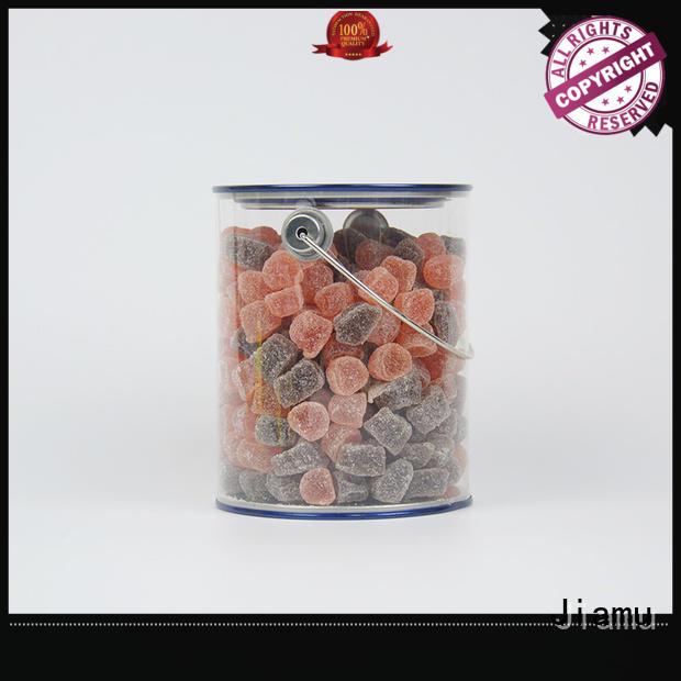 Custom curling plastic tube packaging lids Jiamu