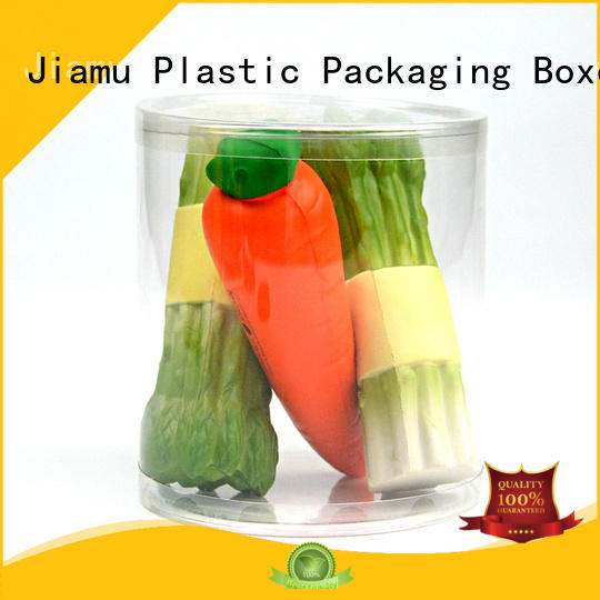 Jiamu Brand tin round customized clear plastic tube packaging