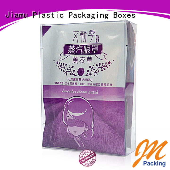 Jiamu mask plastic fold up boxes for products displaying