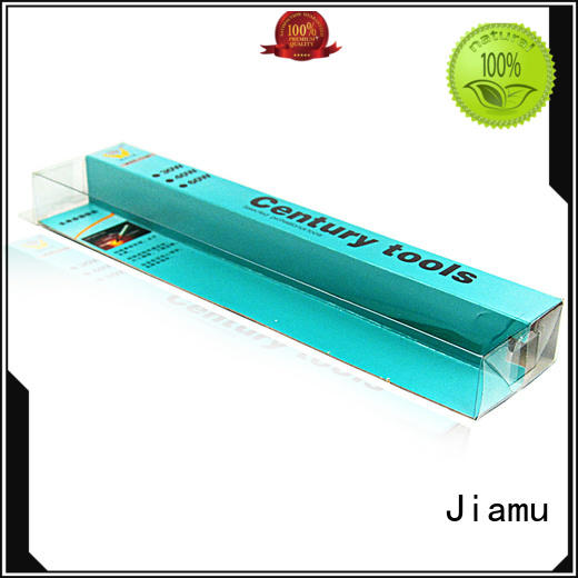 convenient pvc box packaging shaped from China for cosmetic