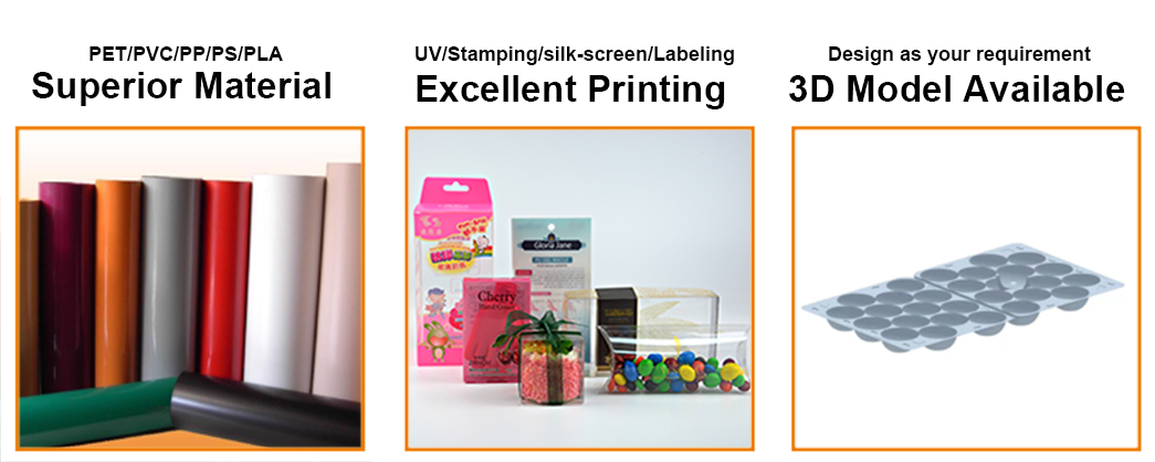 stationary logo pack shaped small plastic packaging boxes Jiamu Brand