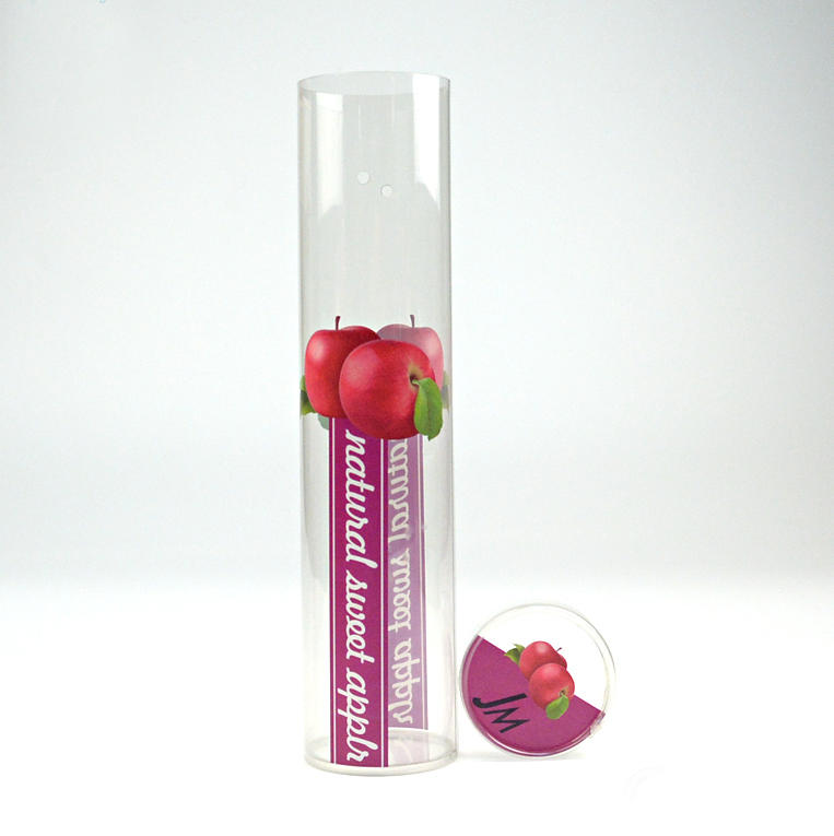 Custom Printing Plastic Apple Fruit Round Tube Packaging