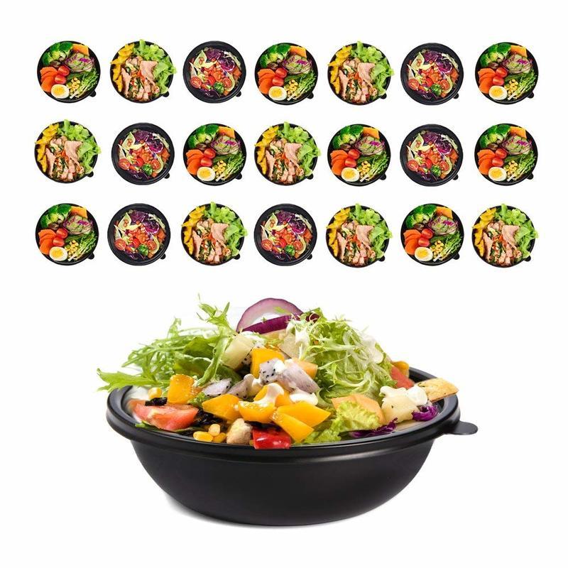 FHLP PP Food Grade Plastic Fruit Salad Bowl