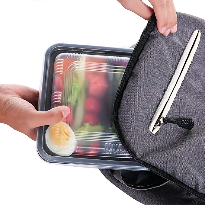 Jiamu-Blister Packaging, 32oz Disposable Plastic Microwave 3 Compartment Lunch Box-3