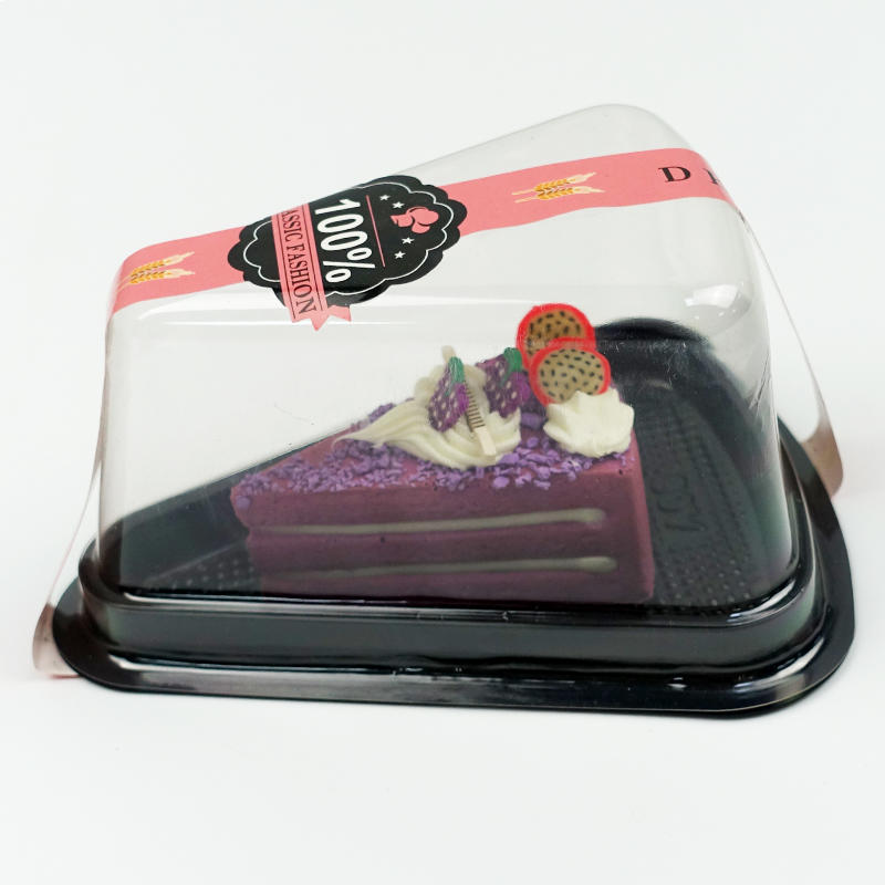 Easy Takeout Triangle Shape Plastic Cake Container