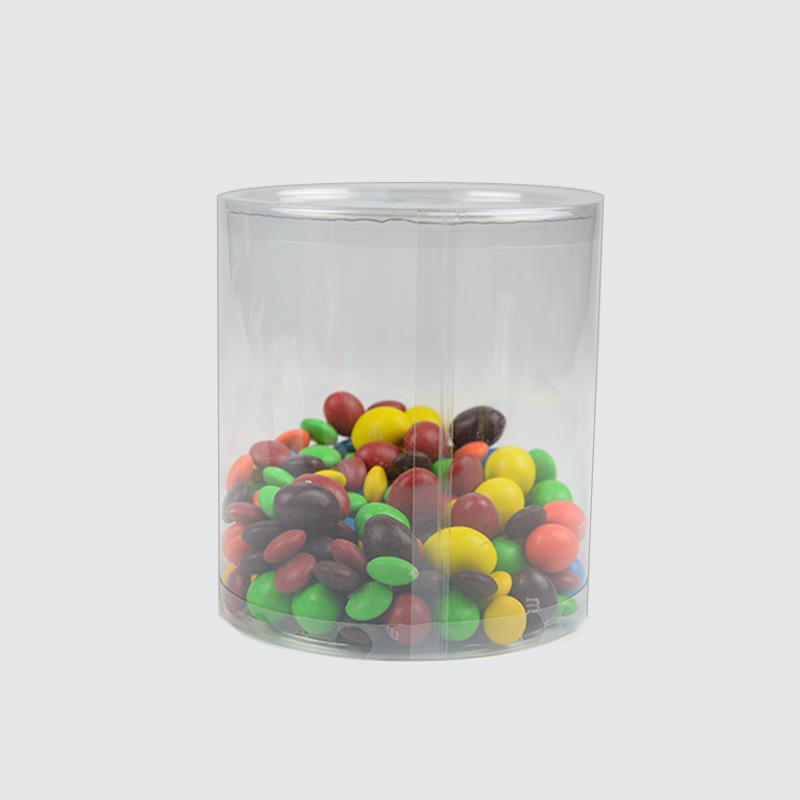 Transparent tube plastic round packaging with curling edge