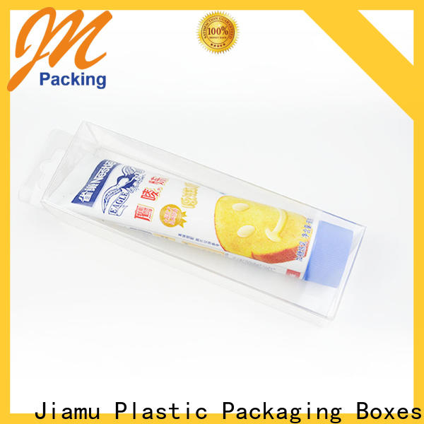 Jiamu approved clear organizing bins from China for gift packaging