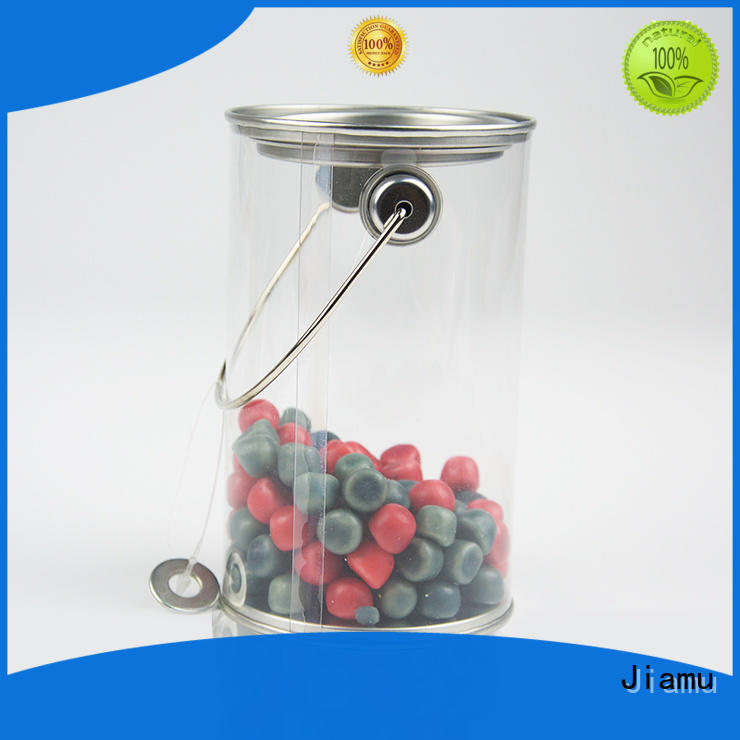 Jiamu mental plastic round packaging factory price for cosmetics